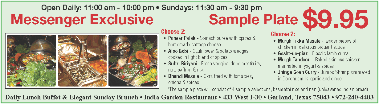 India Garden, Garland