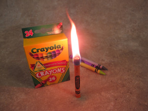 Crayon as a Candle