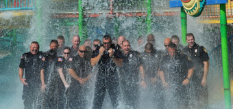 Garland PD Underwater for ALS Ice Bucket Challenge