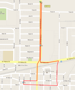 2014 Garland Labor Day Parade Route