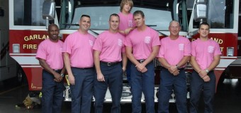 Garland Fire Fighters Turn Out in Pink this October
