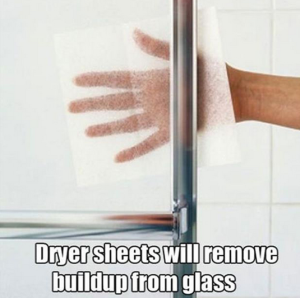 Uses for used dryer sheets