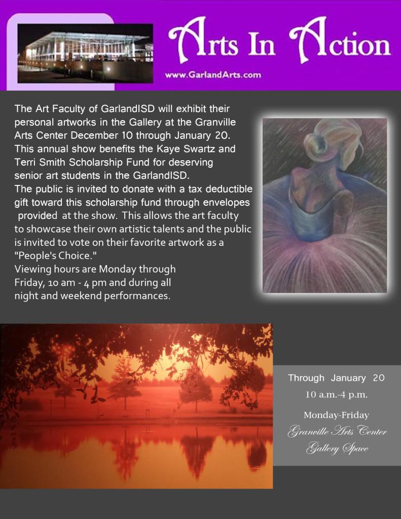 Grandville Faculty art show fliyer