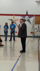 Mayor at Caldwell elementary