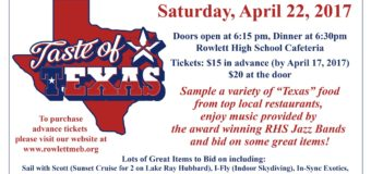 Texas Themed Fund Raiser for Rowlett HS Band April 22, 2017