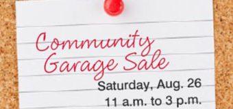 Community Garage Sale Aug. 26