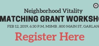 Neighborhood Vitality Matching Grant Program